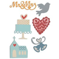 661234 - Sizzix Thinlits Die Set 6PK - Wedding by My Life Handmade